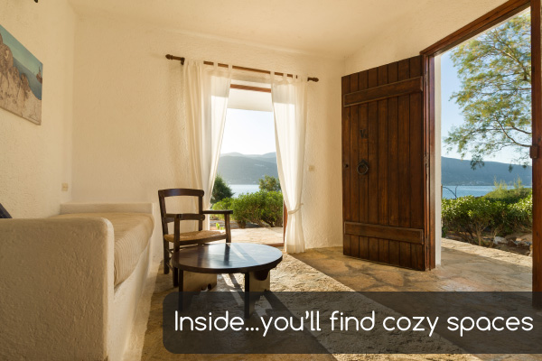 Cozy spaces | Holiday apartments Elounda Island Villas