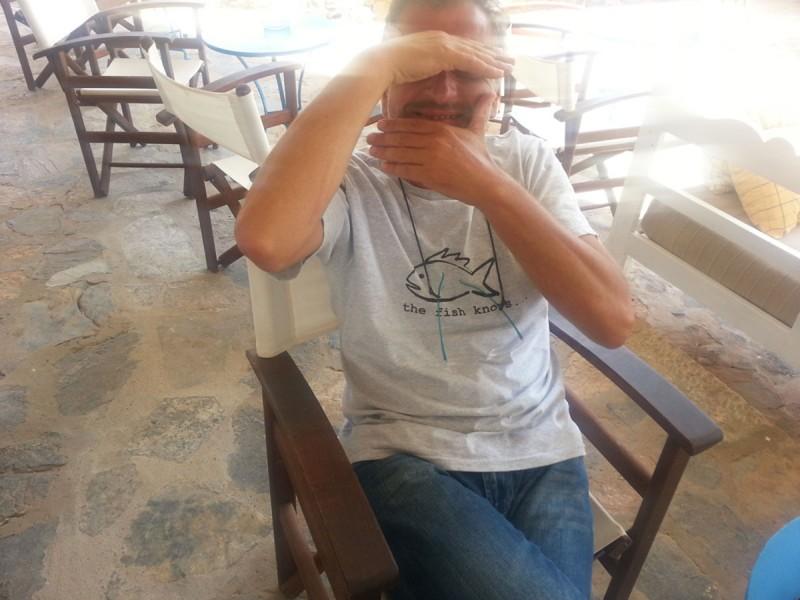 Kostas owner of Navtilvs Bar in Plaka