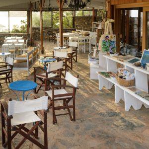 snack bar and art shop   Elounda Island Villas   Art & Sea