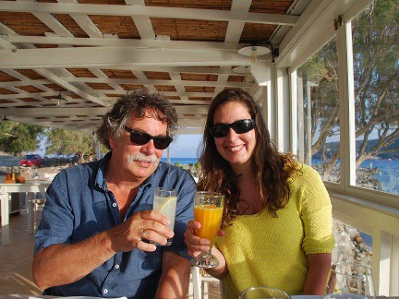Ruud and Jasmin Heuzer at Kanali taverna